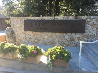 Vineyard Sign by the parking lot